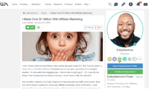 """How To Make Over $1 Million With Affiliate Marketing Like Eddy With """"Y"""""""