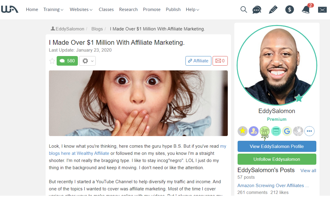 "How To Make Over $1 Million With Affiliate Marketing Like Eddy With ""Y"""